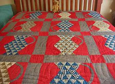 Primitive Antique Hand Stitched Country Pitcher Quilt | eBay, bgrboots