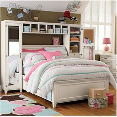 im making my own version of this - dont be scared about the price, it is an AWESOME bed and can be bought by PB teen or made from different kinds of furniture on ikea ;)