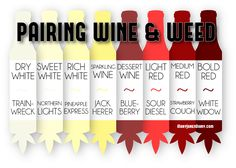 PAIRING WINE WITH WEED STRAINS... HAD TO PIN JUST BECAUSE YA NEVER KNOW WHEN YOU'LL WANNA KNOW