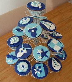 Geboorte cupcakes jongen