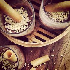 Coppette di crema al cioccolato @monsieurtatin.blogspot.it Creme Caramel, Dessert, Creme Brulee, Deserts, Postres, Desserts, Plated Desserts