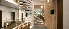 A functional staircase can provide a unique design feature to your office design