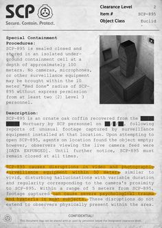 SCP-895 Document