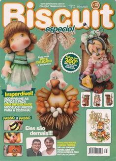 ::ArtManuais-Revistas | Free Download |:: Magazine Crafts, Cross Stitch Books, Clay Figurine, Pasta Flexible, Cold Porcelain, Free Food, Polymer Clay, Diy And Crafts, Teddy Bear