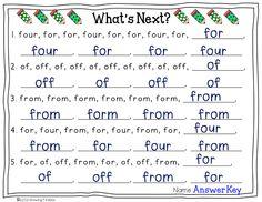 Growing Firsties: word work
