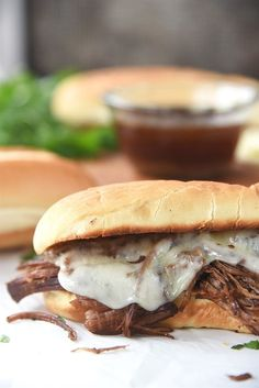 French Dip Sandwiches made in the Instant Pot are a perfect way to put together a quick and easy dinner that's delicio