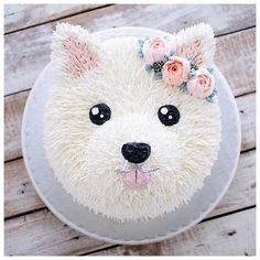 puppy cake birthday \ puppy cake for dogs ; puppy cakes for kids ; puppy cake for dogs birthdays ; puppy cake for dogs recipe ; puppy cakes for kids easy ; Pretty Cakes, Cute Cakes, Beautiful Cakes, Amazing Cakes, Beautiful Birthday Cakes, Bolo Tumblr, Puppy Party, Dog Birthday, Cake Art