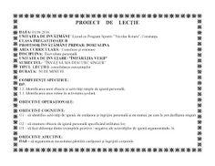 Fise de lucru pentru clasele primare si gradinita : PROIECT DIDACTIC DEZVOLTARE PERSONALA - CLASA PREGATITOARE Personalized Items