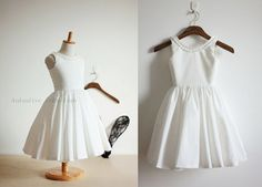Vintage Inspired Ivory Cotton Flower Girl Dress Baby by autoalive, $39.99