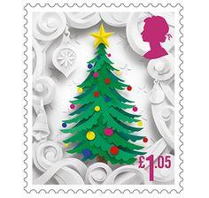 Christmas Tree, 1 pound 5 pence stamp