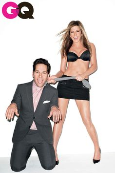 Jennifer Aniston Dominates Paul Rudd In GQ