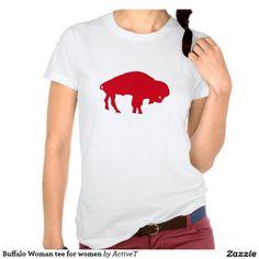 Buffalo Woman tee for women