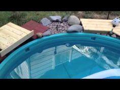 Stock tank war inground pool - YouTube
