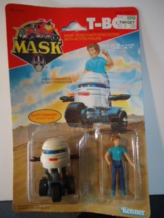 M.A.S.K - T-Bob and Scott carded figure