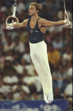 Jul-8 Aug 1992: Vitali Sherbo of the Eastern Unified Nations in action during the Rings discipline of the Gymnastics event at the 1992 Olympic Games in Barcelona, Spain. Sherbo won the gold medal with a score of 9.937 points. \ Mandatory Credit: BobMartin/Allsport