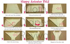 Cloth Diaper Revival: How to fold a flat diaper - Happy Anteater fold