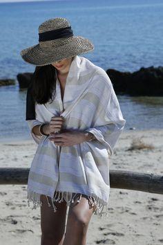 Nautical Red and White Anchor TurkishTowel Peshtemal Oversized Beach Bath Towel