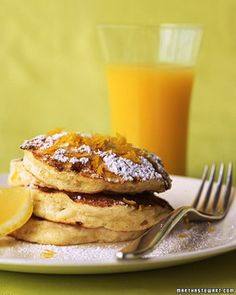 These pancakes are crisp outside and fluffy inside; thanks to the addition of cottage cheese, they have more protein than most.