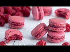Raspberry Macarons - Italian Meringue Method - YouTube
