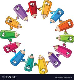 Cartoon Colored Pencils by polkan School Frame, School Clipart, Kids Room Wallpaper, Baby Art, Background Pictures, A Cartoon, Cover Pages, Art Images, Colored Pencils