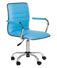 105.99-Another great find on #zulily! Blue Monica Adjustable Office Chair #zulilyfinds BY SAFAVIEH