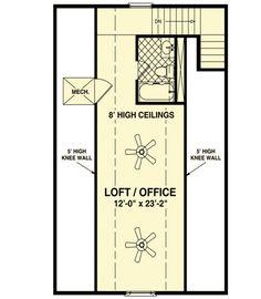 Cozy Cottage With Bedroom Loft - 20115GA floor plan - 2nd Floor