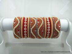 Silk Thread Jhumkas, Silk Thread Bangles Design, Silk Bangles, Silk Thread Earrings, Bridal Bangles, Thread Jewellery, Thread Art, Jewelry Patterns, Handmade Jewelry
