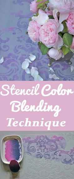 DIY Decorating : Stencil Color Blending Technique by Heather Tracy for Graphics Fairy. Brought to you by Heirloom Traditions Paint Co. Easy Crafts To Make, Diy And Crafts, Easy Diy, Paper Crafts, Diy Wood Wall, Diy Blanket Ladder, Bath Bomb Recipes, Graphics Fairy, Color Blending