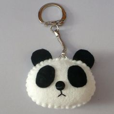 Discover recipes, home ideas, style inspiration and other ideas to try. Felt Diy, Handmade Felt, Felt Crafts, Panda Craft, Felt Keychain, Keychains, Sewing Crafts, Sewing Projects, Panda Love
