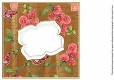 Vintage Tea Sweetpeas Fancy 8in Insert Panel on Craftsuprint designed by Ann-marie Vaux - I have designed this insert panel for your 8x8in cards and to mix and match with many of my designs including my card fronts and stackers, or use them with any of your projects. Simply cut out and attach using flat glue to the inside of your card. Lots of colour choice available, please check the multi link to see them. - Now available for download!