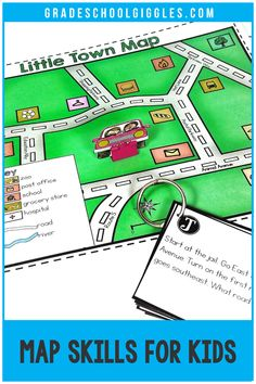 I LOVE teaching social studies, especially maps! This printable interactive notebook covers the different types of maps, map parts,  and map skills. The hands-on game is great practice for kids learning how to read a map. Plus, kids will gain new skills. They will label the parts of a map, learn how to draw a map, learn how to read a map, and more as they complete the activities in the booklet. Then, they'll use new geography knowledge to make a neighborhood road map and navigate around a…