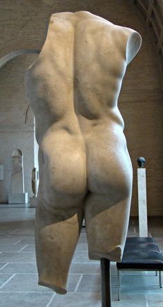 Apollo, a hero or an athlete, copy of a lost bronze statue made by Polykleitos, c 430-420 BC, München, Glyptothek