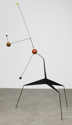 'Morning Star' (1943) by American artist & sculptor Alexander Calder (1898-1976).     Painted sheet steel, steel wire, & painted & unpainted wood, 76.75 x 48.375 x 45.75 in. via MoMA