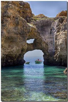 PORTUGAL, LAGOS: the cliffs and the sea caves.