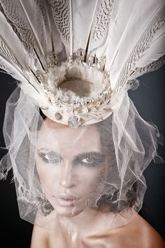 """Silverlake"" hat by Anya Caliendo Couture Millinery."