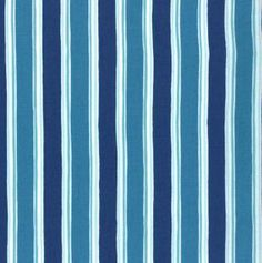 Seascapes by Deb Strain - Cabana Stripes (blue)