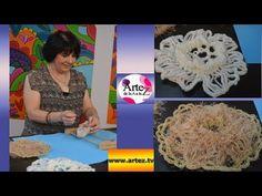 Cómo tejer flores con horquilla