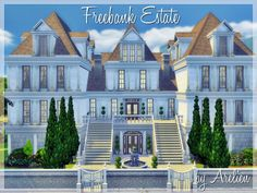 Freebank Estate is a luxury mansion, perfect for your sims moving up in the world! Found in TSR Category 'Sims 4 Residential Lots'