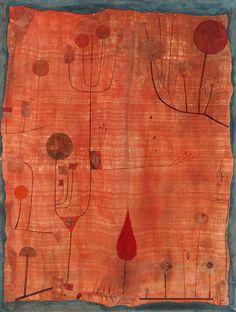 Afbeelding Paul Klee - Früchte auf rot (oder: Das Schweißtuch des Geigers)1930