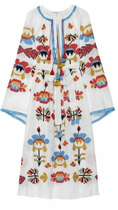Astrid Embroidered Maxi Dress by Blouse And Skirt, Maxi Dress With Sleeves, Embroidery Dress, Embroidered Dresses, Mexican Dresses, Custom Dresses, Boho Dress, New Outfits, Fashion Dresses