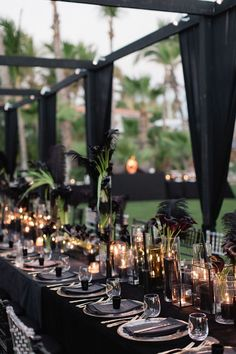 Modern wedding decor - Lauryn and Michael's Gothic Cabo San Lucas Real Wedding – Modern wedding decor Wedding Week, Wedding Ceremony, Wedding Receptions, Wedding Set Up, Gold Wedding, Wedding Bride, Wedding Tables, Wedding Updo, Wedding Beauty