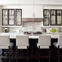 Love this black and white styled kitchen. Sarah Richardson Design - Kitchen