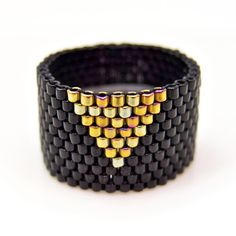 Cleopatra Triangle Ring Black  by Jeannie Yeo