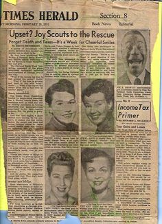 "Mom's 'Coy Grin' during National Smile Week, Sunday, Feb. 25th, 1951, in The Daily Times Herald | When interviewed, ""The Coy Grin has its place, where a man and a woman are concerned, declares Dallas model Frances Lee [Frances' 1st married name]. Even if not immediately sincere, it should be based on sincerity, she says."""