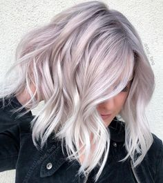 ideas hair color balayage ash guy tang The most beautiful hair ideas, the most trend hairs New Hair Colors, Cool Hair Color, Lilac Hair, Purple Blonde Hair, Pearl Blonde, Pearl Hair, Blonde Hair Toner, Blonde Hair With Color, Silver Lavender Hair