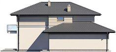 Projekt domu Karat 157,99 m2 - koszt budowy - EXTRADOM Modern Family House, Bungalow, Gazebo, House Plans, Garage Doors, Shed, Outdoor Structures, Architecture, Outdoor Decor
