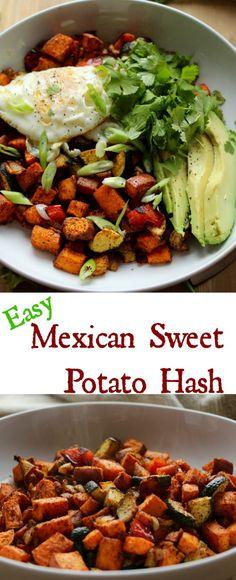 Easy Mexican Sweet Potato Hash