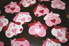 Tarjetas con forma de perros de corazones