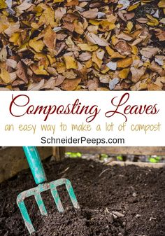 How to make a lot of compost this winter Every fall nature gives us an abundance of leaf litter that is perfect for composting in winter. Composting leaves with this two ingredient method is an easy way to make a lot of compost for the spring garden. Autumn Nature, Autumn Garden, Spring Garden, Garden Compost, Garden Soil, Td Garden, Leaf Compost, Dubai Garden, Garden Trellis