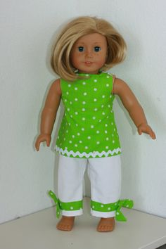 American Girl Doll Clothes 18 inch  White Pants by TheThimbleShop